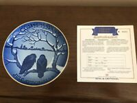 1991 Christmas of the Crowes, Bing & Grondahl Centennial plate