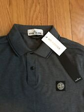 NWT Stone Island Polo Shirt Long Sleeve Large Slim Fit Gray Supreme