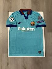 Leo Messi Soccer Jersey Barcelona Away Small