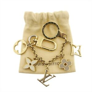 Auth LOUIS VUITTON Fleur De Monogram Key Ring Holder Gold Brass M65111 #f70098