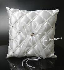 """Wedding Ring Pillow 7"""" Bridal Cojin Para Annillo De Boda White"""