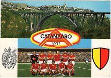 Cartolina Squadra Catanzaro Calcio 1971 Viaggiata