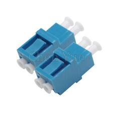 50pcs Fiber LC UPC SM Duplex Ordinary Adapter Optical Fiber Connector Flange