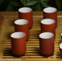 6pcs*0.6oz smelling cup Chinese kungfu tea cup zisha red stoneware cup porcelain