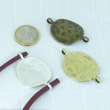 7 Abalorios Hebillas Para Cuero 43x29mm Plata Tibetana-Cobre-Dorado Leather