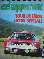 revue echappement n°50  1972 FORD CAPRI 2600 RS / 1000 KM PARIS / TOUR DE CORSE