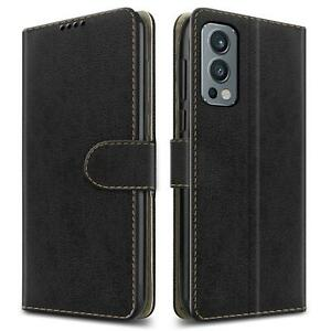 For OnePlus Nord 2 5G Case, Leather Flip Wallet Stand Phone Cover + Screen Guard