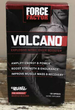 Force Factor Volcano Pre Workout Nitric Oxide Booster 120 Caps EXP 4/21. E
