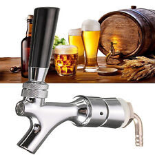 Beer Tap Faucet Draft Shank+Elbow 1-2/5''X3/16'' Brass Tube Chrome For Kegerator