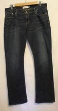 ABERCROMBIE & FITCH ~ Emma Indigo Blue Fade Boot Cut Jeans US 10R  Aus 12