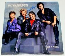 BOB SEGER SIGNED AUTHENTIC 'LIKE A ROCK' VINYL ALBUM RECORD LP BECKETT COA BAS