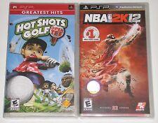Sony PSP Game Lot - NBA 2K12 (New) Hot Shots Golf Open Tee (New)