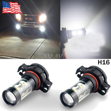 2pcs 50W White H16 5202 CREE LED Projector Bulbs For Cars Fog Lamp Daytime Light