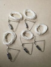 5 CRABBING HAND LINES 25-30 FEET LINE STAINLESS STEEL BLUE CLAW MADE USA
