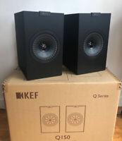 "KEF Q150 Series 5.25"" 2-Way Bookshelf Speakers PAIR Satin Black 100W"