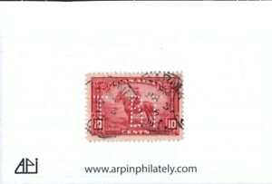 Middlesex Stamp  Canada #223, Used- RCMP Issue feat Bell Telephone perfin cancel