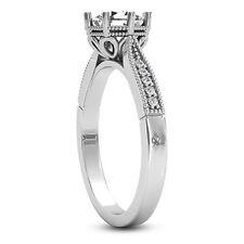 Solitaire 8 Prong .80 Carat I1/E Round Diamond Engagement Ring 14K Enhanced