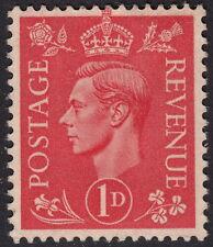 GB : 1941 1d pale scarlet -very thick paper  SG 486 Spec Q5b mint