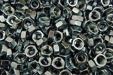 (225) Hex Jam Nut 1/2-13 Coarse Thread - Zinc Plated - Thin Nuts