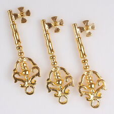 20x 145438 New Arrive Charm Gold Plated Double S Flower Key Alloy Pendants Lots