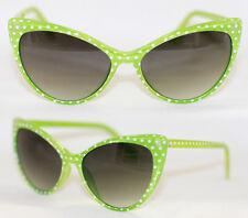 Cat Eye Sonnenbrille Pinup 50er Jahre z. Petticoat Kleid Polka Dots grün 570