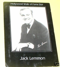 Jack Lemmon - Hollywood Walk of Fame 1960s postcard!
