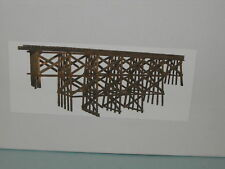 timber trestle bridge N SCALE BY JV MODELS #1014