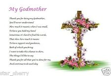GODMOTHER GIFT - from adult  ( laminated gift)