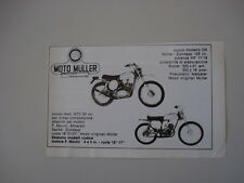 advertising Pubblicità 1975 MOTO MULLER GTC 50 / CR 125