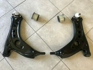 VW POLO N 9 03-09 TWO FRONT LOWER WISHBONE SUSPENSION ARMS WITH TWO BUSHES L& R