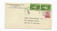 1949 American Chamber of Commerce - Manila, Philippines Canceled Cover