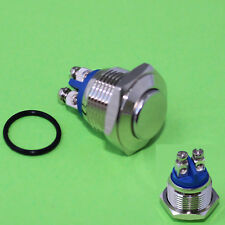 Vollmetall Taster Schraubösen 16 mm Schließer 230 V / 3 A Metall Schalter (298