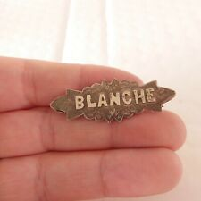 brooch, Blanche, 925 Solid silver Victorian name