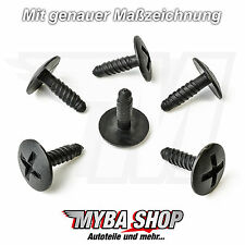 10x KUNSTSTOFF SCHRAUBE HALTER BEFESTIGUNG CLIPS VW GOLF T5 7H0915450 KLIPS NEU