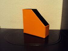 Schallplattenständer, aus PVC, faltbar, orange