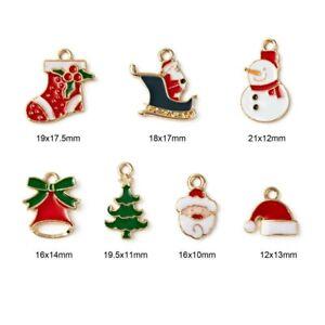 20 x Christmas Enamel Charms Pendants  Jewellery Earrings Making Bracelets