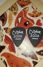 OZZY Ozzfest Zakk Wylde/Nick Catanese 2002 tour 2-guitar pick COMBO