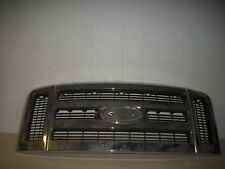 FORD F250 F350 SUPER DUTY CHROME GRILLE 05 06 07 2005 2006 2007  7C34-8200  USED