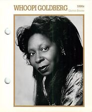 """Whoopi Goldberg Actress Movie Star Card Photo Front Biography on Back 6 x 7"""""""