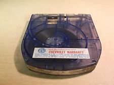 Technicolor Super 8mm Cartridge Chevrolet Warranty Information