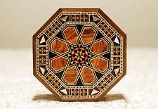Holz Etui Schmuckschatulle Box Kästchen mit Perlmutt,Damaskunst K 1-1-82