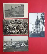 4 x Militär Foto AK Frankreich 1. WK Soldaten zertstörte Kirche   ( 36912