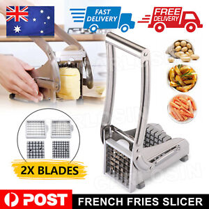 Chip Potato Chipper Maker French Fries Dicer Slicer Chopper Cutter Steel Blades