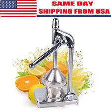Stainless Steel Manual Citrus Juicer - Chrome Orange Lemon Manual Juice Squeezer