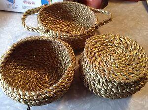 Handmade small baskets