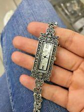 Silver 925 Onyx Bracelet Bangle Turkish Handmade Jewelry Watch Sterling