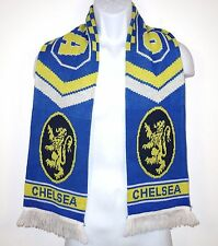 Chelsea Football Club FC Blue Yellow Acrylic Scarf London England Premier League