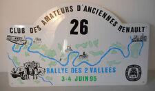 rallye des 2 vallees 1995, rally plate, club renault