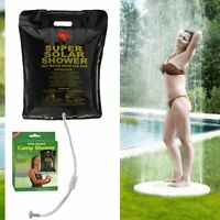 1 Portable Shower Heated Bag Solar Water Heater Outdoor Bath Camping Camp 5 Gal