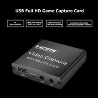 Mini USB 2.0 HDMI Capture Card Video Record Box for Game DVD Live Streaming